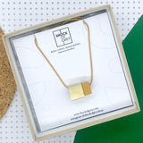Box Cube Necklace in Yellow