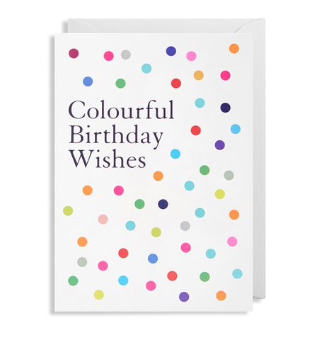 Colourful Birthday Wishes Greeting Card