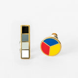 Colour Wheel & Greyscale Earrings