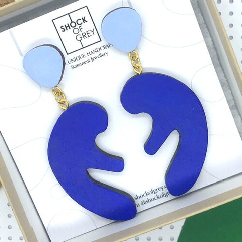 Matisse Earrings in Blue