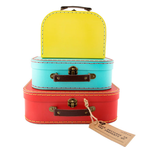 Brights Retro Suitcases (Set of 3)