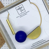 Multishape Necklace in Ultramarine Blue