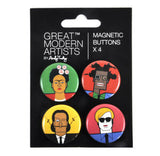 Great Modern Artists Magnetic Buttons