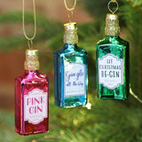 Gin Bottles Mini Bauble Set