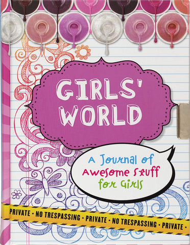Girl's World Lock Journal