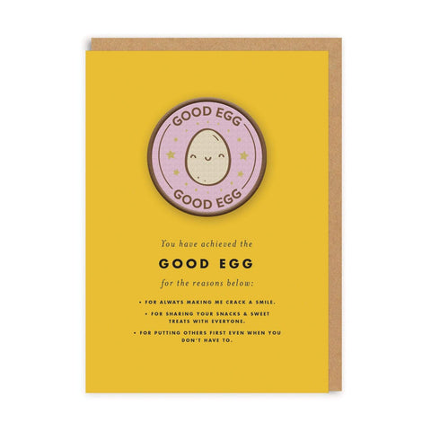 Good Egg Woven Patch Greeting Card