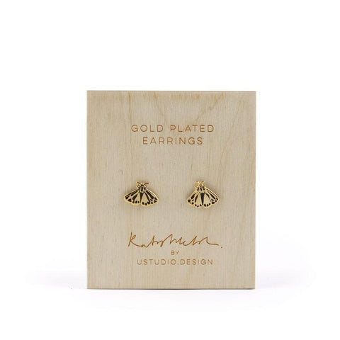 Moth Earrings by Katy Welsh