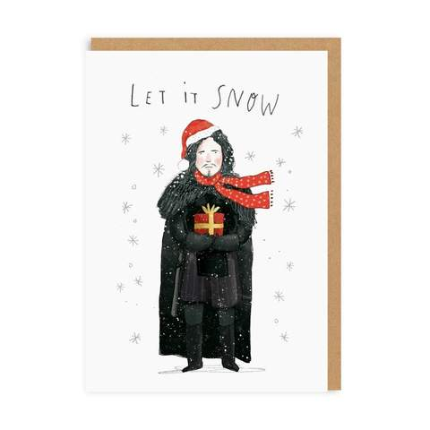 Let it Snow - Jon Snow  Christmas Card