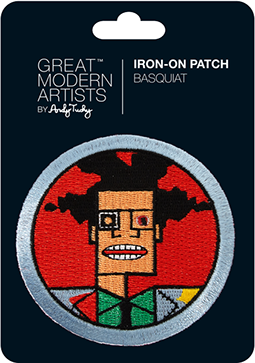 Great Modern Artists Basquiat Iron on Patch