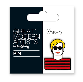 Great Modern Artists Warhol Pin