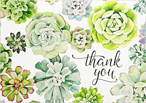 Succulent Garden Thank You Note Card