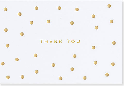 Gold Dot Thank You Note Greeting Card