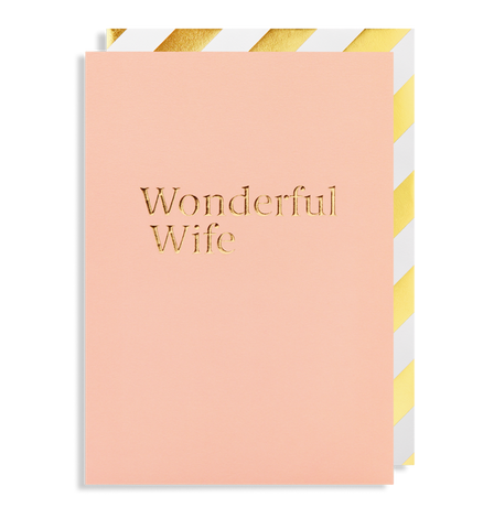 Wonderful Wife Greeting Card