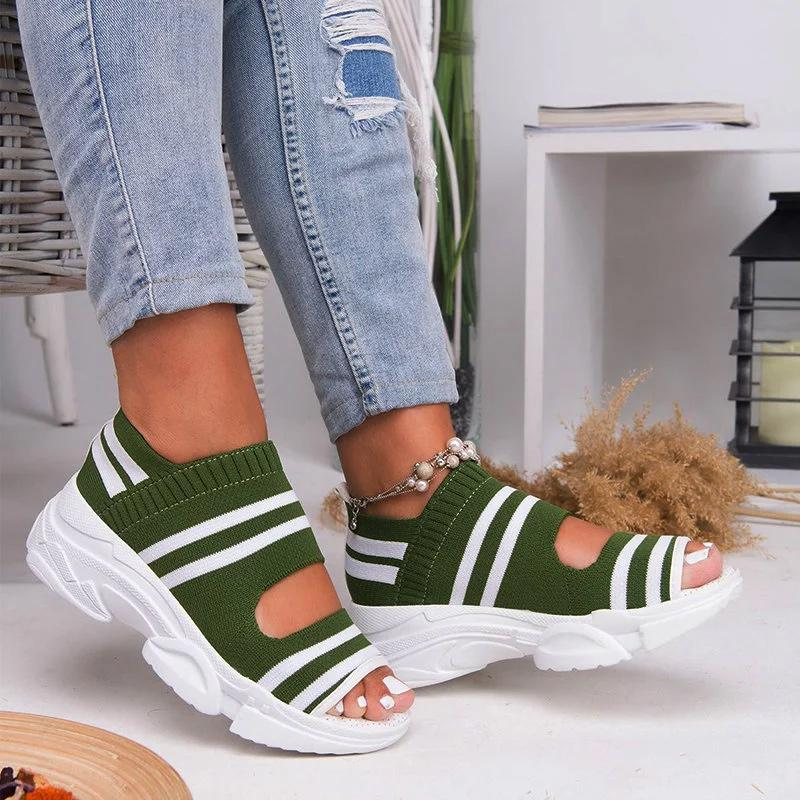 ❤️Buy 2+ Get Extra 10% OFF❤️Casual Woven Wedge Comfy Open Toe Sandals