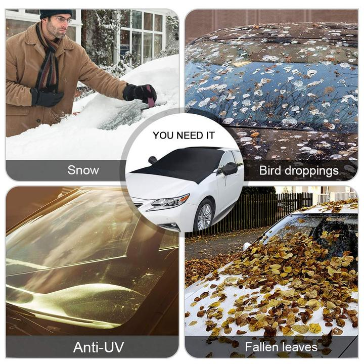 Universal Premium Windshield Snow Cover --Include Ear Cover