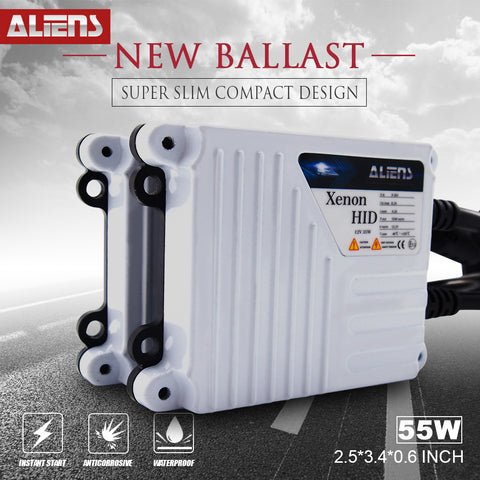 ALIENS 55W Digital AC Slim HID Xenon Conversion Kit Replacement Ballast