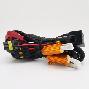 HID Xenon Kit Error Free 50W 6OHM Load Resistor Relay Wiring Harness Cable