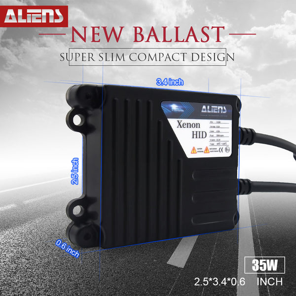 ALIENS 35W Digital AC Slim HID Xenon Conversion Kit Replacement Ballast