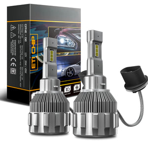 880/H27 2-Sided LED Headlight Conversion Kit with Fan Base