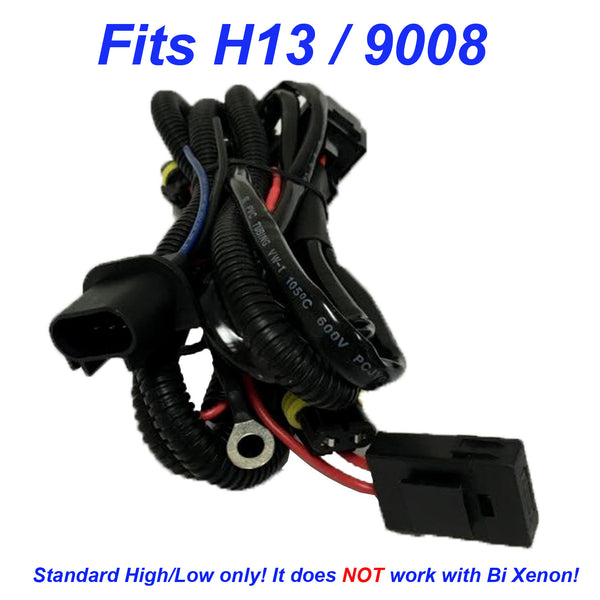 HID Xenon Kit Hi/Low Beam Relay Wiring Harness Cable