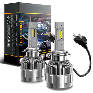 H7 2-Sided LED Headlight Conversion Kit with Fan Base
