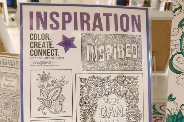 Inspiration Coloring Pages from The Coloring Project of Seattle, WA