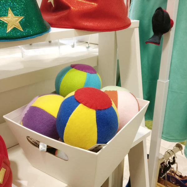 Colorful Felt Ball Rattles by World of Whimm of Mukilteo, WA