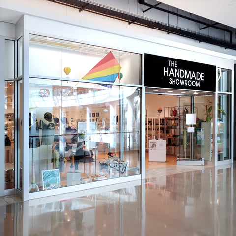 The Handmade Showroom storefront on the 3rd floor of Pacific Place in downtown Seattle