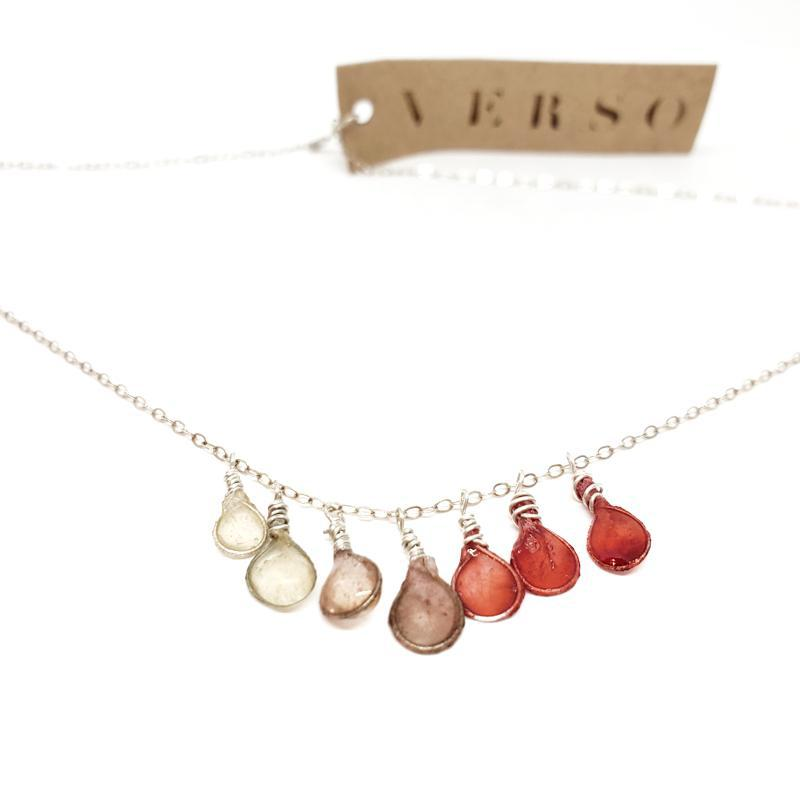 Necklace - Ombre Coral Morning Dew by Verso
