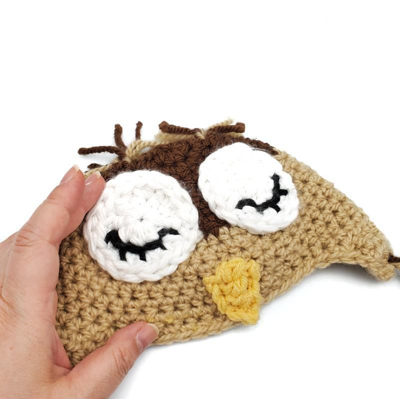 Infant Hat - Owl Brown Tan by Scary White Girl