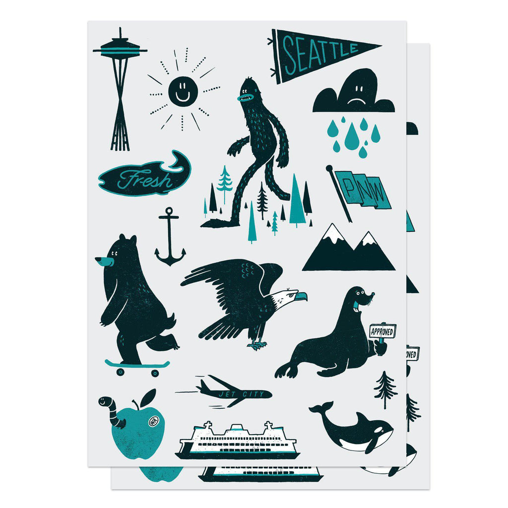 Temporary Tattoos - Pacific Northwest Set by Factory 43