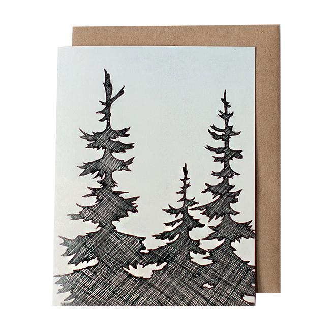 Card - NW Trees by Red Umbrella Designs