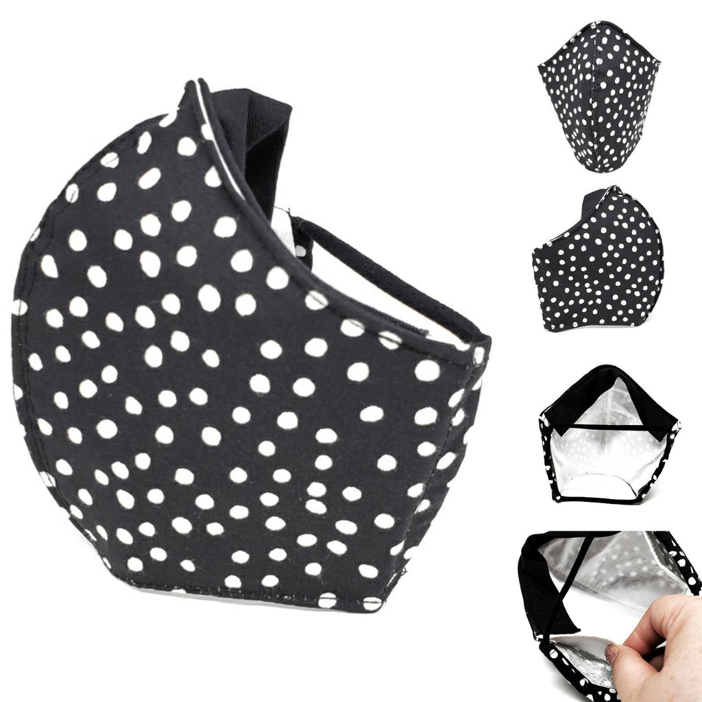 Medium - Black with Scattered White Dots by imakecutestuff