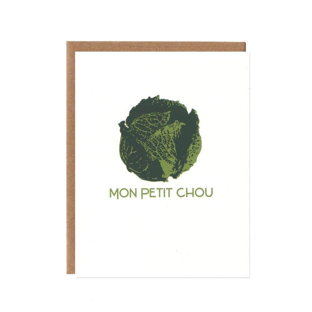Card - Mon Petite Chou (Cabbage) by Orange Twist