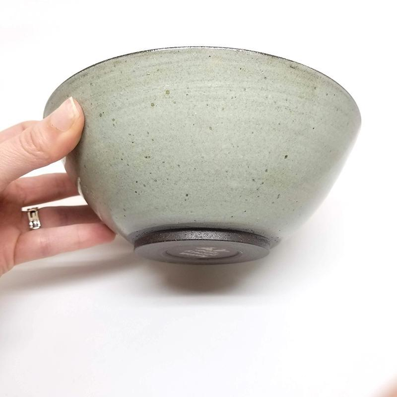 Cereal Bowl - Seafoam Icicle Daisy by Foxtail Pottery
