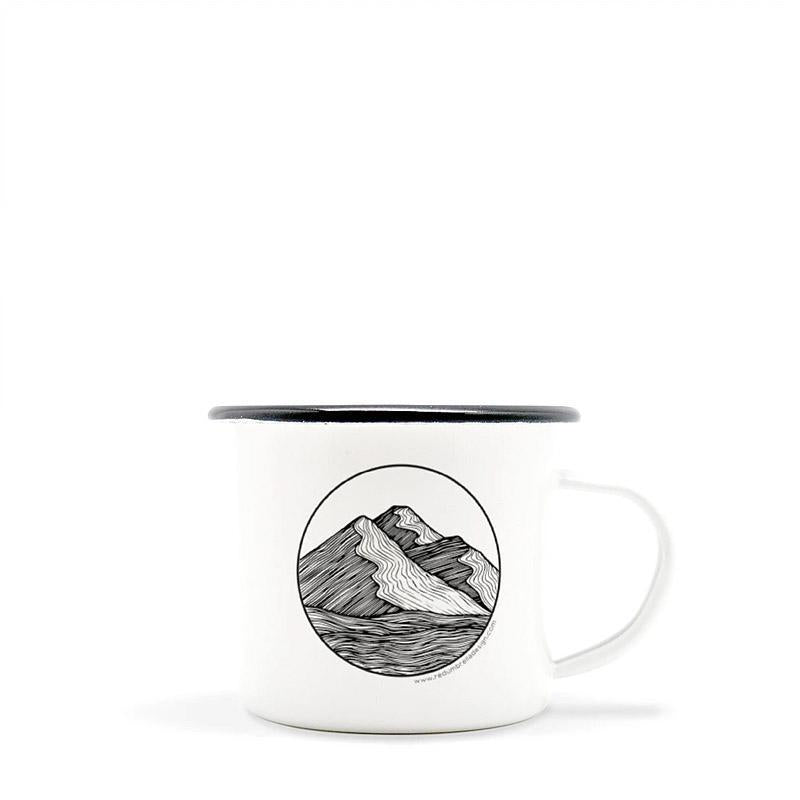Camp Mug - Mountain - 10oz by Red Umbrella Designs