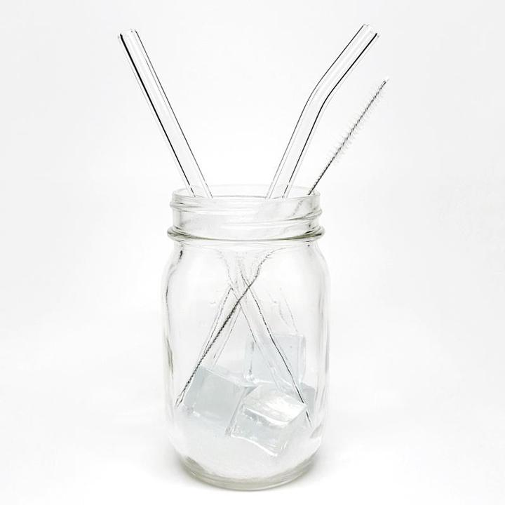 Straws - Single Straight or Bent Glass Straws by DrinkingStraws.Glass