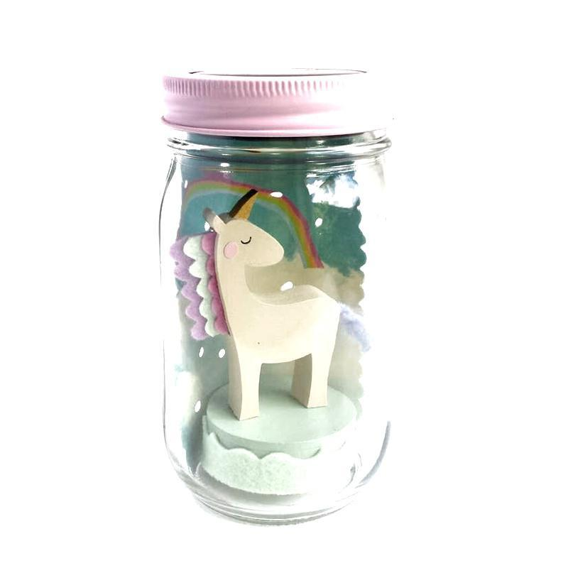 Solar Light - Mason Jar Unicorn by Tree by Kerri Lee