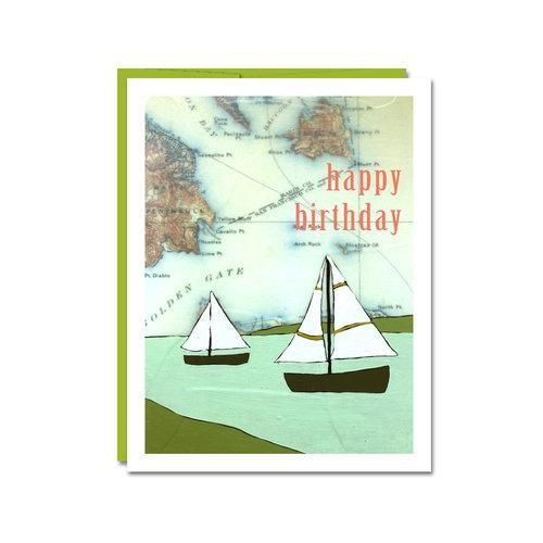 Card - Birthday - Boats by Rachel Austin Art