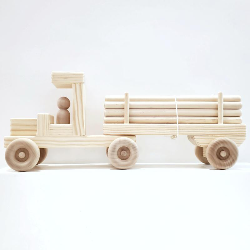 Finished Toy - Log Truck by My Grandpa's Wooden Toys (Last one!)