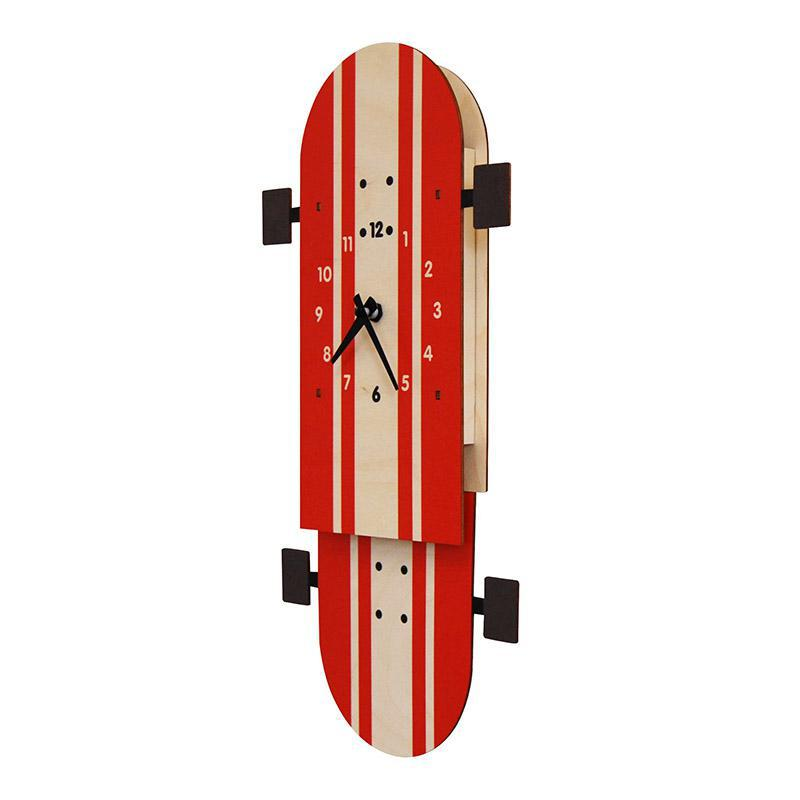 Clock - Skateboard Pendulum by Modern Moose