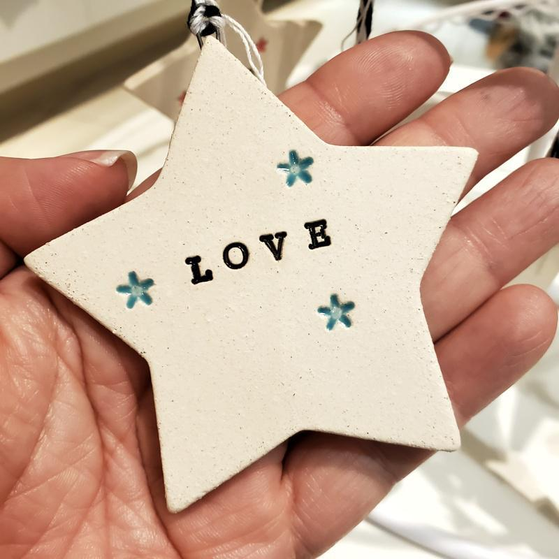 Ornaments - LOVE Starry Star (4 colors) by Tasha McKelvey