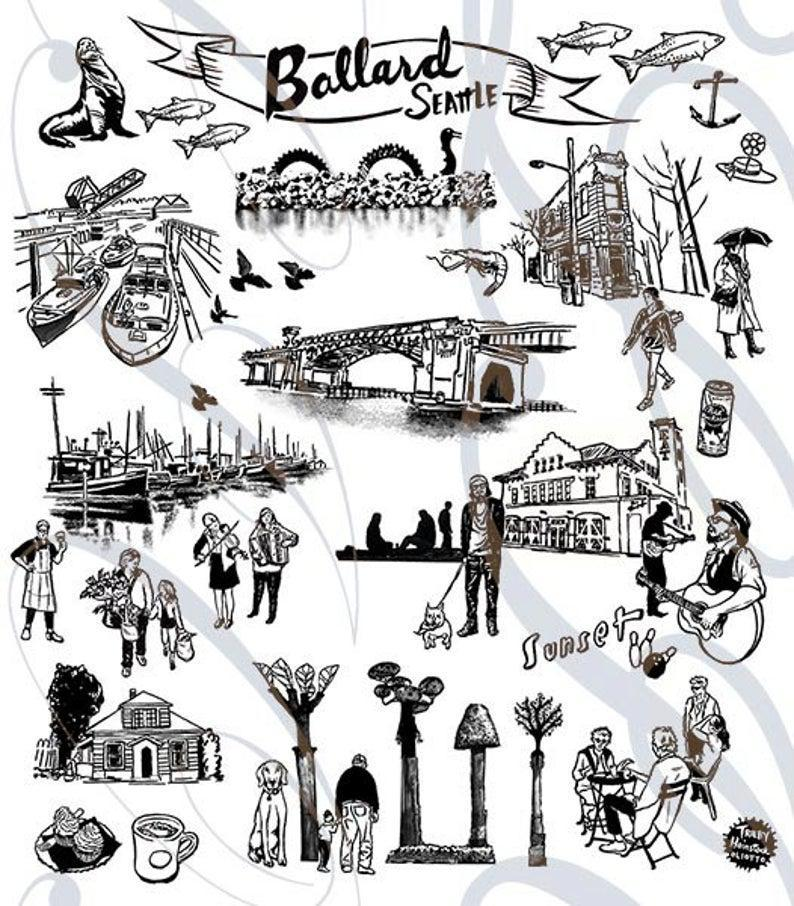 Tea Towels - Ballard by Oliotto