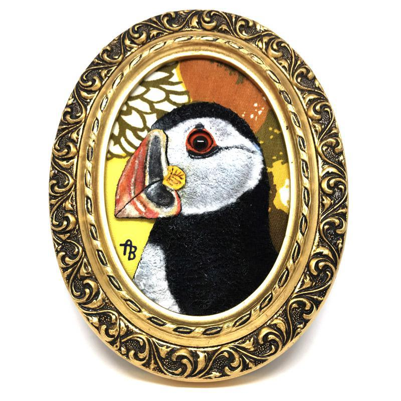 Applique Art - Puffin by Alise Baker of Chubby Bunny