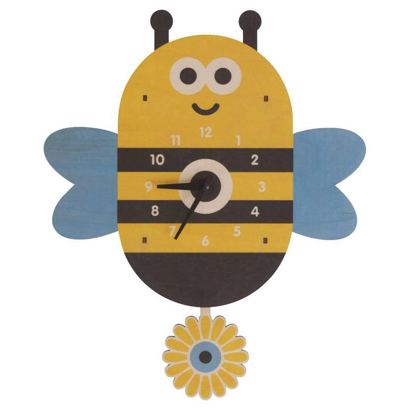 Clock - Bee Pendulum by Modern Moose