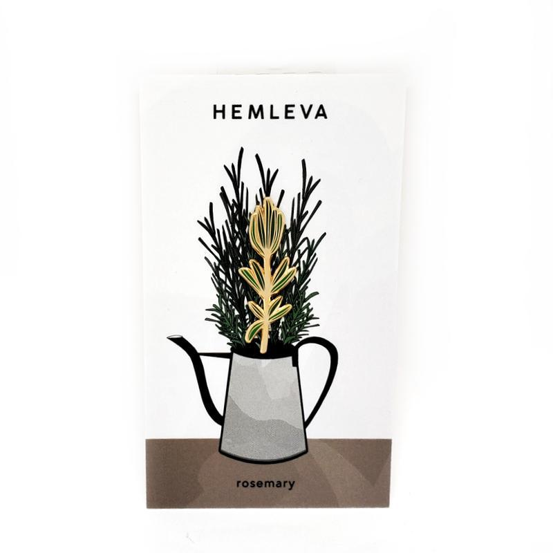 Enamel Pin - Rosemary Leaf by Hemleva