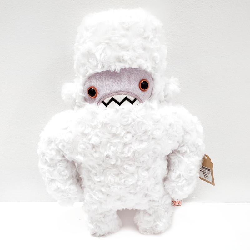 Woolly Yeti - White Lavender Face Pink Eyes by Careful It Bites