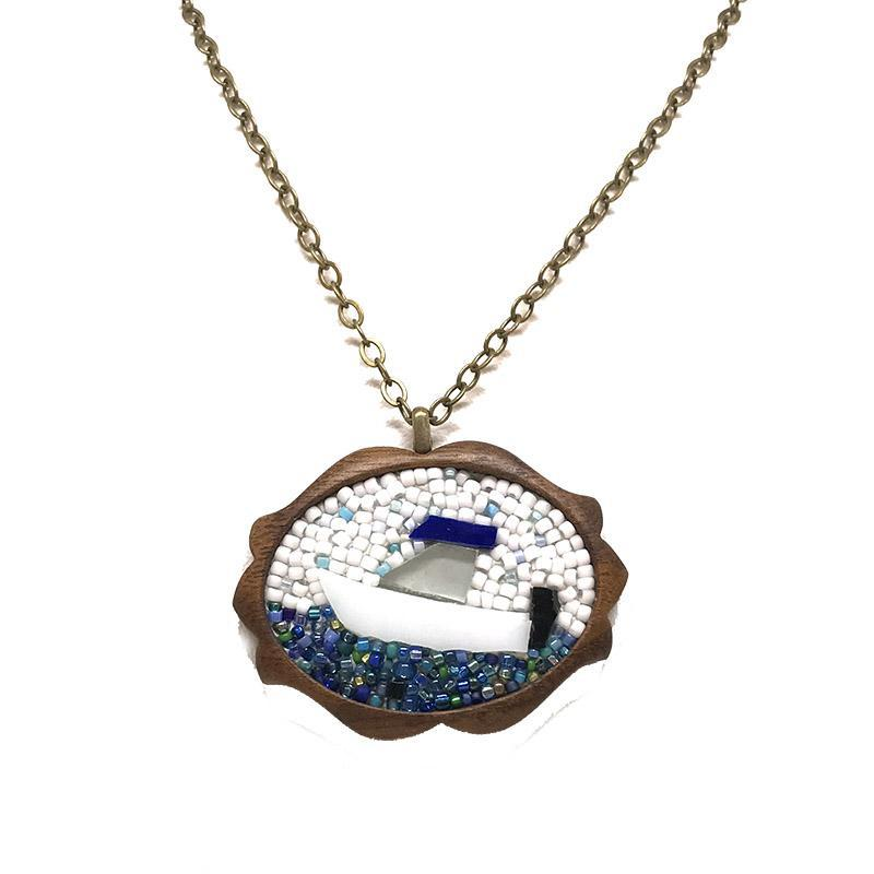Mosaic Pendant - Boat Large by XV Studios