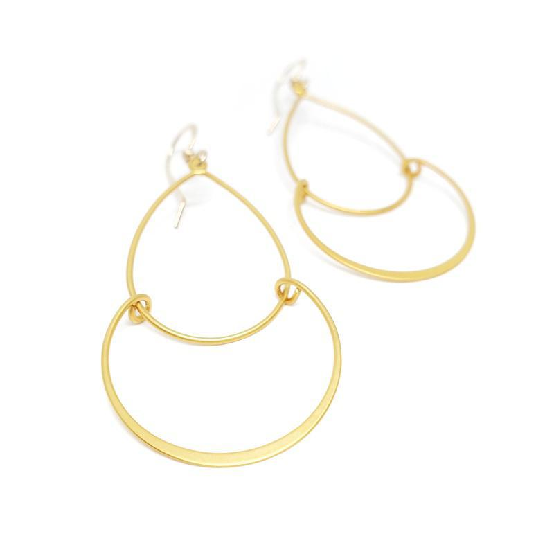 Earrings - Serena Earrings 14k Gold-fill by Foamy Wader
