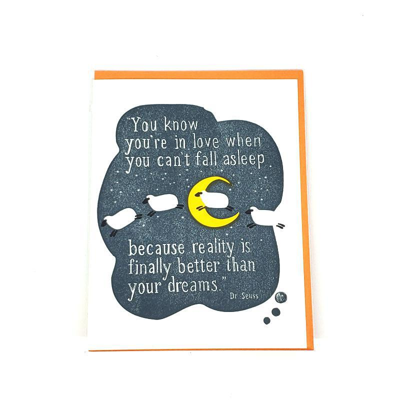 Card - Love & Friends - Dream Quote Dr. Seuss by Ilee Papergoods